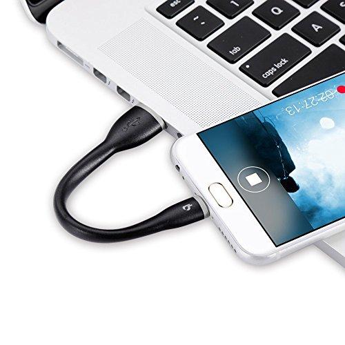 BigBlue USB C kurz Kabel Type C Ladekabel Silikon 15 cm Datenkabel für Samsung Galaxy Note 8 / S8, MacBook, Huawei P9 / P10 und andere Geräte mit Type C (MEHRWEG)