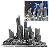 SINQORCN 13 Pack Aquarium Fish Tank Decorations-Destroyed City,There are Many Styles to Buy and Match,Cement Broken Building Model Crafts,Put it in a Fish Tank, Living Room or Office