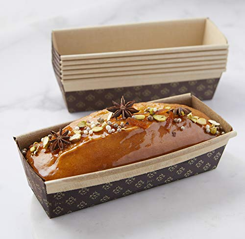 Rectangular Paper Loaf Pan Molds Large Size - 9''x2 7/8''x2.5'' - 25pcs