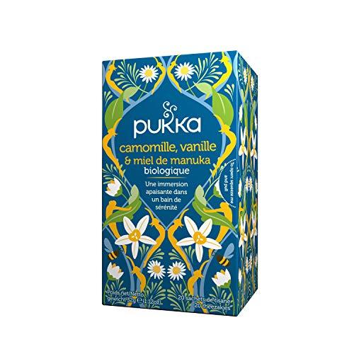 Pukka Bio-Tee Kamille, Vanille & Manuka-Honig, 80 Teebeutel, 4er Pack (4 x 20 Stück)