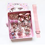 FOK Set of 18 Pieces Fancy Headwear Acessories For Baby Girls/Toddlers - Pink