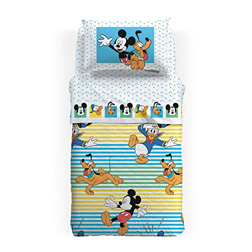 Caleffi Couette matelassée 1 Place et demie Mickey été Disney