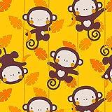 MONKEY GROVE/gelb, Softshell Classic, 140 cm breit (+/-