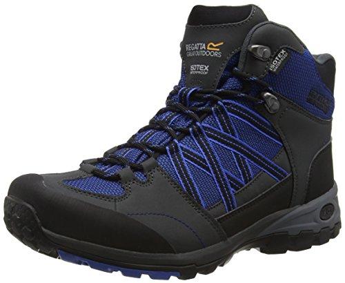 Regatta Samaris Mid, Zapatos de Senderismo Hombre, Azul (Oxfdbl/briar), 46 EU
