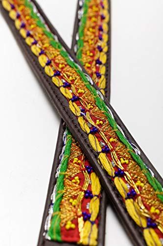 MACLAUD - Correa Perro Zari Gold Talla 2-120x2,5cm.