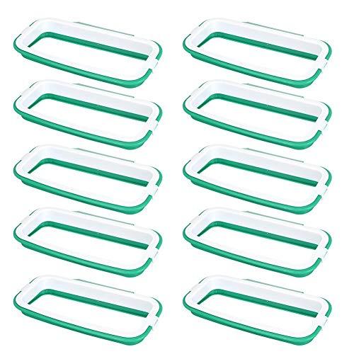 Zwindy 10Pack Hanging Trash Garbage Rack Plastiktütenhalter für Küchenschrank Schrank Büro Schule Badgebrauch, 8.7x4.9in, Grün.(Grün)