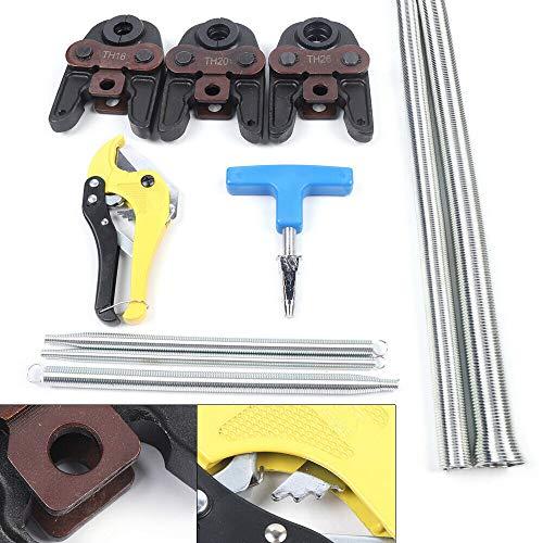 OUKANING Verbundrohr Presszange Werkzeugset mit Werkzeugset mit TH 16 20 26mm Pressbacken