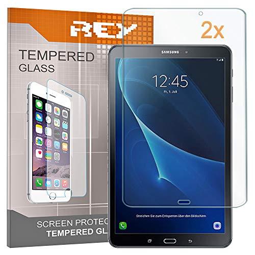 REY Pack 2X Pellicola salvaschermo per Samsung Galaxy Tab A 7' 2016 (WiFi), Pellicole salvaschermo Vetro temperato, di qualità Premium Tablet