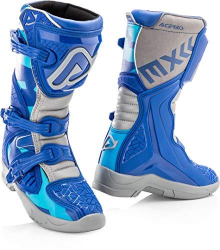 Acerbis X-Team Stivali Motocross per bambini Blu/Grigio 35