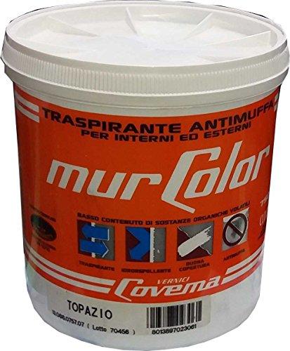 Pittura traspirante antimuffa per interni e esterni Covema Ml. 750 TOPAZIO