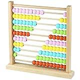 木製 珠算 そろばん 百玉 カラフル 子供 算数 GYBBER&MUMU 知育玩具 (2#)