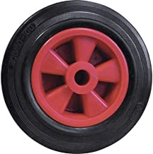 Dörner + Helmer 714221ROT massief rubberen wiel met glijlager 200 x 50 x 20 mm naafbreedte 58 mm