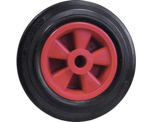 Dörner + Helmer 714221ROT Vollgummi-Rad mit Gleitlager 200 x 50 x 20 mm Nabenbreite 58 mm
