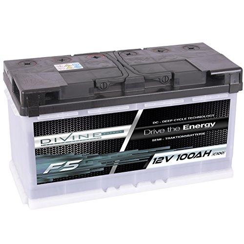Divine 12V 100Ah Solarbatterie Mover Versorgungsbatterie Wohnmobil Boot Marine Camping Batterie Wartungsfrei