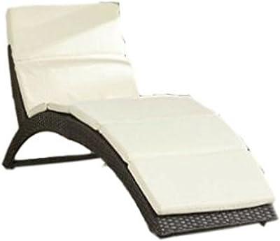 STS SUPPLIES LTD Patio Chair Wicker Sunlounger Modern Elegant Metal Lawn Garden Lounge Recliner & E