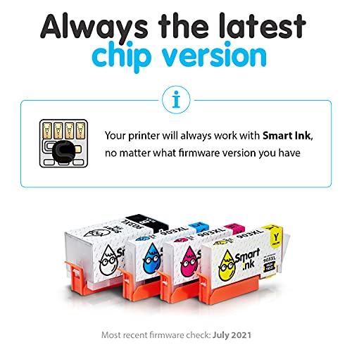 Smart Ink Reemplazo Compatible del Cartucho de Tinta para HP 903 XL 903XL High Yield 4 Pack (Black XL & C/M/Y) con tecnología de Chip avanzado Cartuchos para HP OfficeJet Pro 6950 6960 6970 Impresora