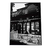 FASHION POSTER(ファッションポスター) B2(約52cm×73cm) ポスター(マット) ポスターのみ モノトーン モノクロ 白黒 カフェ セピア クラシック 男前(fg-poster-481-b2B2matt)