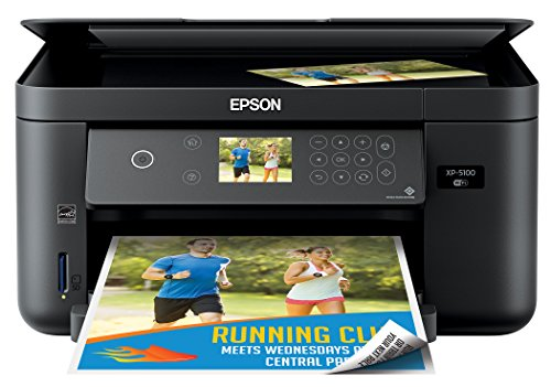 Epson Expression Home XP-5100 Wireless Color Photo Printer with Scanner & Copier, Amazon Dash Replenishment Ready