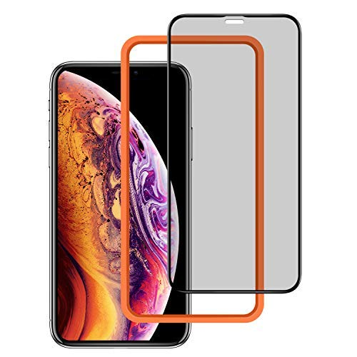 ZOVBR Anti-Spy Protective Film with 3D Full Coverage Screen Protector Compatible for iPhone Xs Max, 6.5 inch - Black