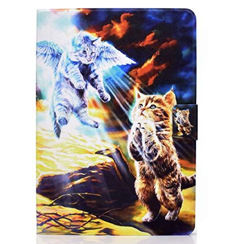JIan Ying Funda universal para todas las tabletas de 7 pulgadas ASUS, Acer, Samsung, Huawei, Lenovo Slim ligero y elegante protector de pantalla Angel Cat
