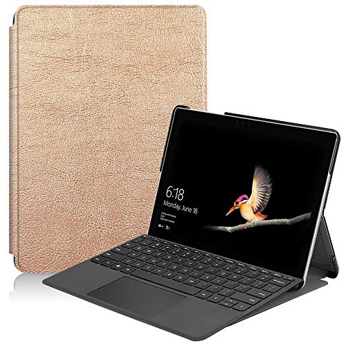 JUFENGYAO Ultra Slim Shockproof Tablet Cover With Pen Holder for Microsoft Surface Go2 2020 Laptop Case 10' (Color : Rose Gold)