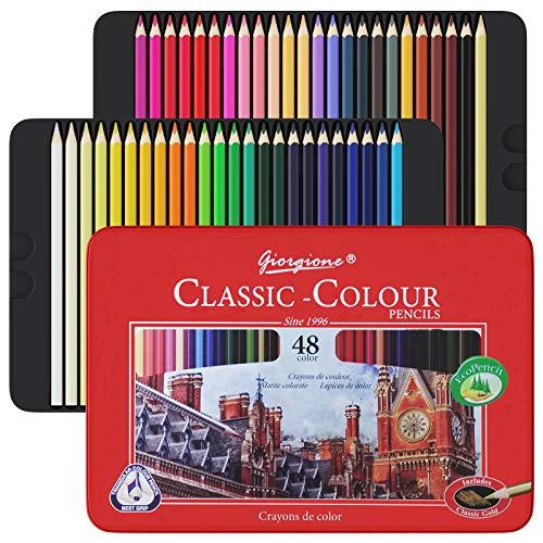 48 Buntstifte Set, Art Supplies Ausmalstifte für Erwachsene, Professionelle Buntstifte für Künstler, Anfänger, Erwachsene und Kinder, ideal für Kreatives Malen