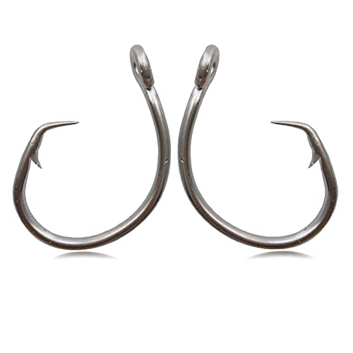 size 12//0 20 GT Stainless Steel Sea Demon Style Big Game Fish Fishing Hooks