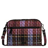 Vera Bradley Signature Cotton Triple Compartment Crossbody Purse, Cozy Plaid