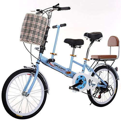 TRGCJGH Fahrrad Mutter Und Kind Tragen Kind Fahrrad Mutter Frauen Tandem 20-Zoll-Fahrrad,A