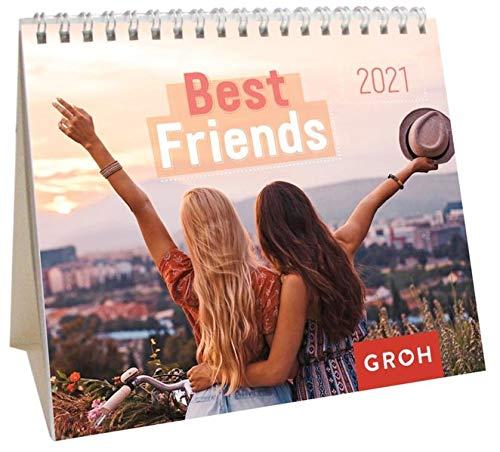 Best friends 2021: Mini-Monatskalender. Kleiner Aufstellkalender mit Monatskalendarium