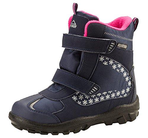 McKinley Snowtime AQX ISE Winterschuhe für Kinder Winterstiefel, Schuhgröße:34, Farbe:Navy Dark/Pink