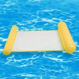 JeromKewin, amaca gonfiabile galleggiante per piscina, spiaggia, per adulti Yellow