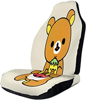 RachelReichert Rilakkuma Novel Car Seat Cover, Car Interior Car Seat Cover for Most Cars, Cars, SUVs, Vans2 PCS