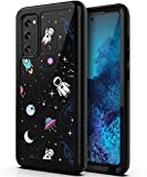 PBRO Case for Galaxy S20 FE Case,S20 FE 5G Case Cute Astronaut Case Dual Layer Hybrid Anti-Slip Sturdy Case Rugged Shockproof Case for Samsung Galaxy S20 FE 5G/S20 Space/Black