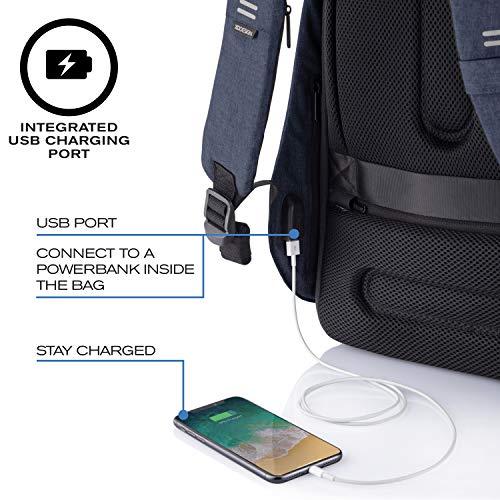 XD Design Bobby Hero Regular Mochila Antirrobo USB Azul...