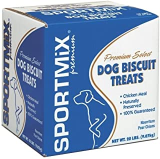 SPORTMiX Wholesomes Gourmet Biscuit with Real Cheddar Cheese Grain Free Dog Treats, 20 lb.
