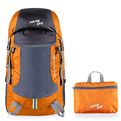 Lightweight Hiking Backpack Packable Ultra Light Daypack for Women Men Travel, Foldable 35L 2 Side Compartments Nylon Day Packs Out Bag for Outdoor Camping Cruising Excursions