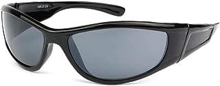 Eye Wear - Toops - Gafas de sol infantil deportivas para niños (6 a 12 años), color negro