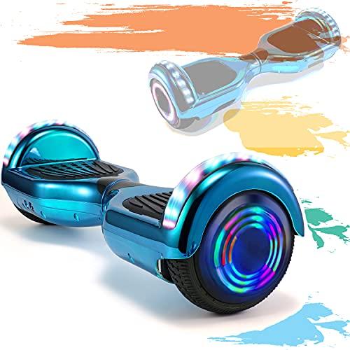 HappyBoard 6,5 Pollici Hoverboard Monopattini Elettrici Autobilanciati Scooter Elettrico Autobilanciante, Ruote da Skateboard con Luce a LED, Motore 700 W Bluetooth per Bambini e Adulti