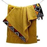 Serviette de toilette douce en coton et eponge de bambou premium certifie oeko-tex...