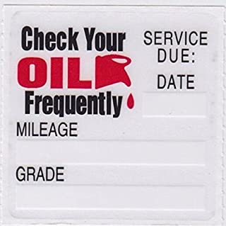 50pcs Oil Change/Service Reminder Stickers Transparent Oil Change/Service Friendly Electrostatic Sticker Reminder Stickers