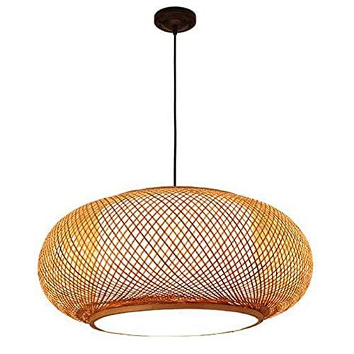 N\C Araña de ratán Estilo Retro Linterna Colgante lámpara bambú lámpara Dormitorio Sala de Estar araña de la casa de té Salas de Techo de bambú lámpara de Techo Bar cafetería Colgante lámpara E27