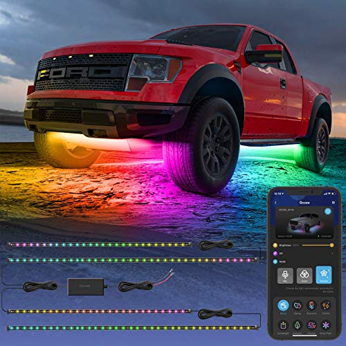 Govee Exterior Car LED Lights RGBIC Underglow Car Lights with App and Remote Control 16 Million Colors Music Mode DIY Mode 10 Scene Modes for SUVs Trucks