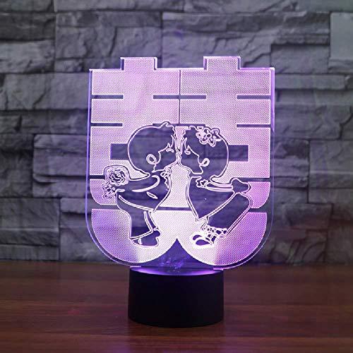 Bruiloftsgeschenken in Chinese stijl 3D-lamp 20 kleuren led-nachtlampen voor kinderen Touch LED USB-tafellamp baby slapen nachtlicht smartphone bluetooth besturing