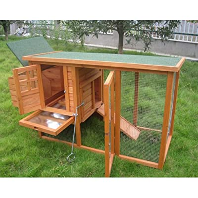 BUNNY BUSINESS Mini Shack New Chicken Hen House Coop Poultry Ark Run Rabbit Hutch Rabbit Hutches by BUNNY BUSINESS