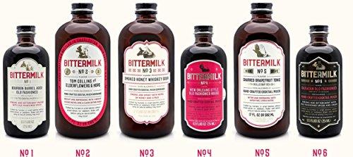 Bittermilk Cocktail Mixer Variety Pack - Six Bottles Includes Bittermilk No.1 No.2 No.3 No.4 No.5 No.6