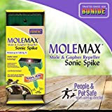 Bonide (BND61121) - Molemax Sonic Spike Repeller, Solar Powered Mole and Gopher Repellent