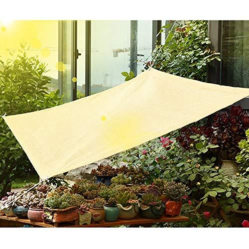 GuoWei Sonnensegel 75% Sonne Blockiert Mesh Netto Atmungsaktiv mit Ösen für Abdeckung Garten Pflanzen Pergola Im Freien Anpassbare (Color : Beige, Size : 1x3m)