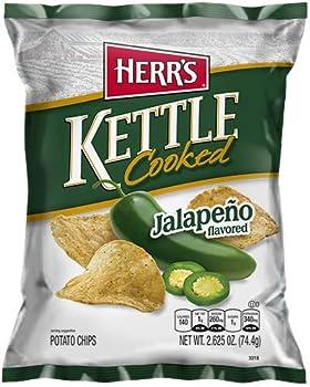 Herr s Jalapeno Kettle Chips 2.625 Ounce  Pack of 3