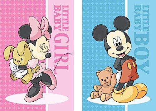 2er Pack - Set - tolle Gechenkidee für Kinder -Handtuch/Gesichtstuch/Gästetuch - 40 x 60 cm - 100% Baumwolle -2 er Set: 1 x Minnie Mouse und 1 x Mickey Mouse